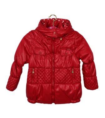 Куртка Горошки Красный