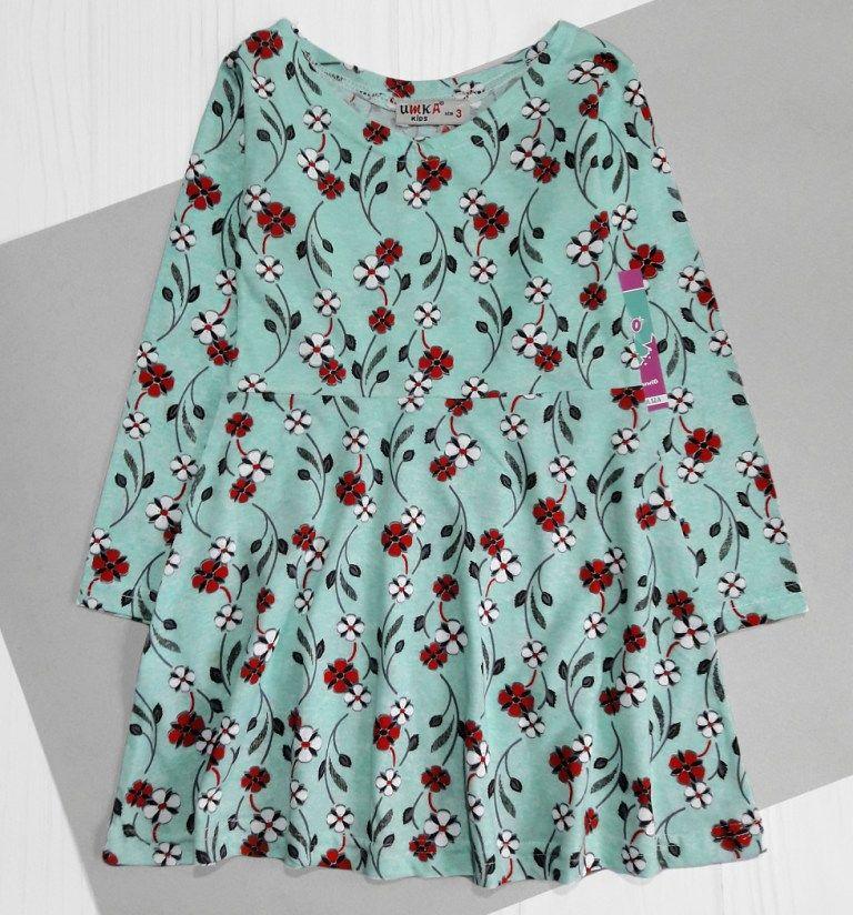 Платье Цветы Мята