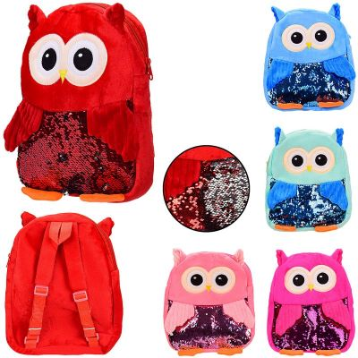 Детский плюшевый рюкзак сова