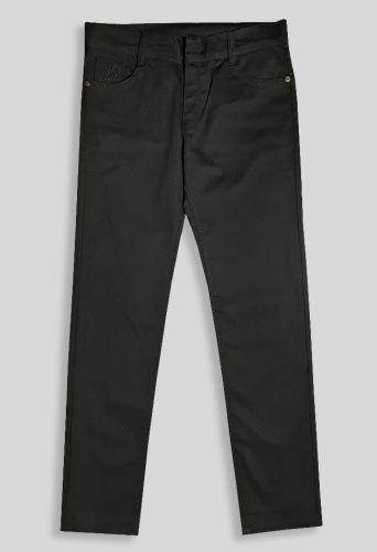 Брюки однотонные JoPolo вышивка Черный