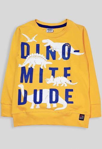 """Джемпер для мальчика """"Динозавр"""" желтый Желтый"""