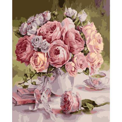 Набор для росписи по номерам Винтажный букет роз