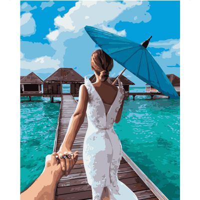 Набор для росписи по номерам Невеста на Мальдивах
