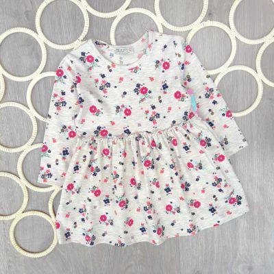 Платье Цветы Бежевый
