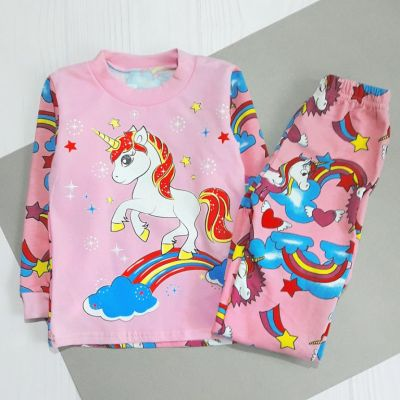 Пижама Единорог начес Розовый