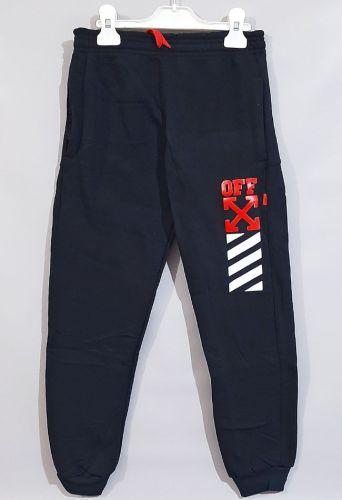 Спортивные брюки молния, начес Синий