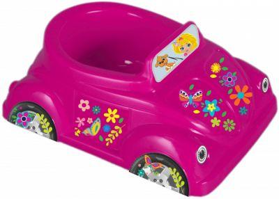 Горшок Car розовый