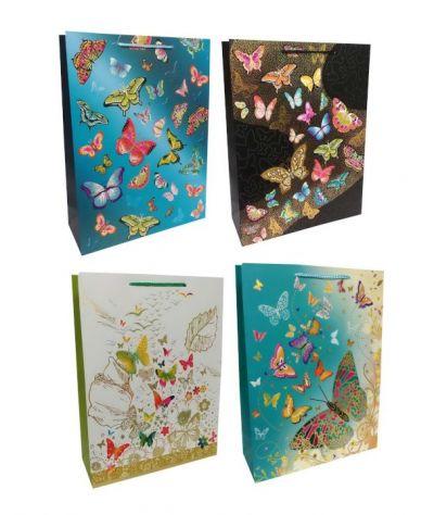 Пакет картон Бабочки