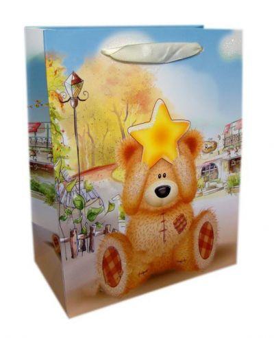 Пакет картон Мишка со звездой