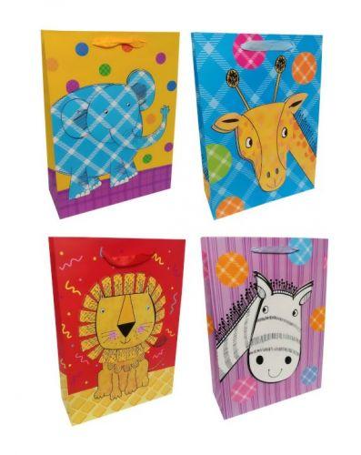 Пакет картон Яркие зверята