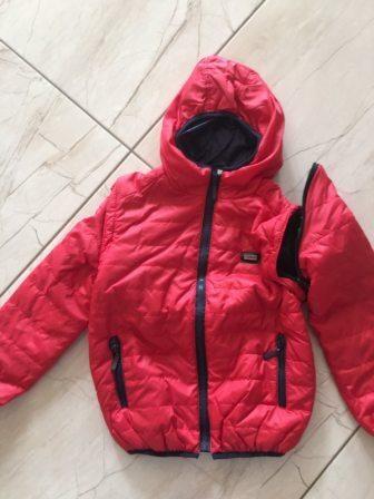 """Куртка демисезонная для мальчика """"Отстежной рукав"""" красный Красный"""