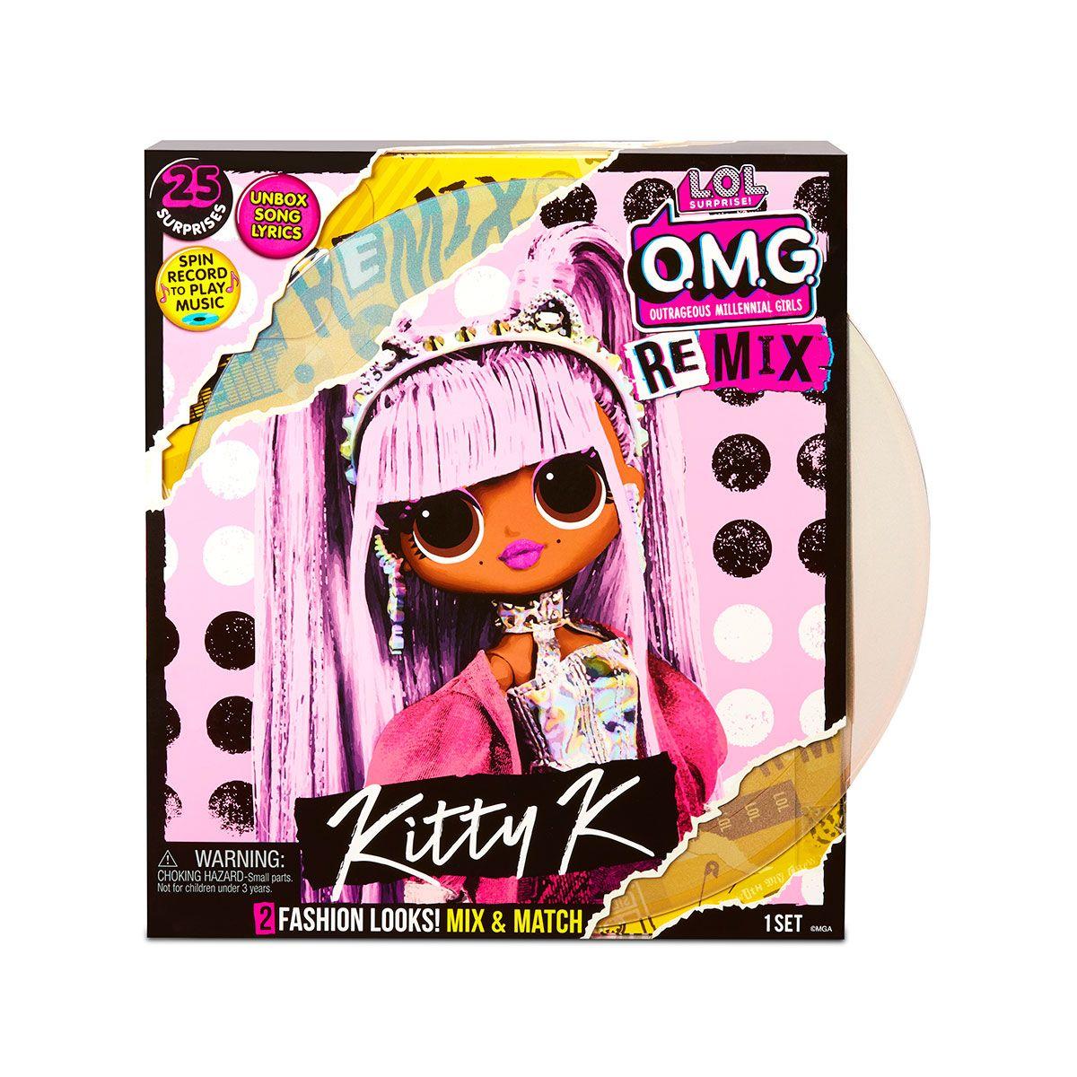Игровой набор с куклой LOL SURPRISE серии OMG Remix КОРОЛЕВА КИТТИ