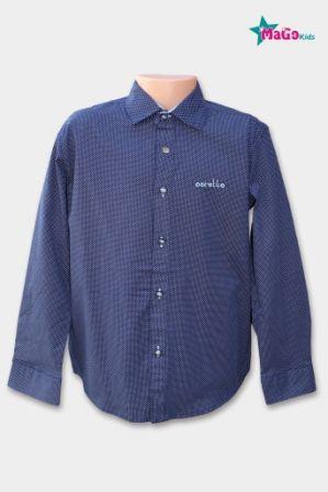 Рубашка мелкий накат Синий