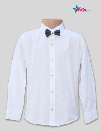 Сорочка длинный рукав АР Белый