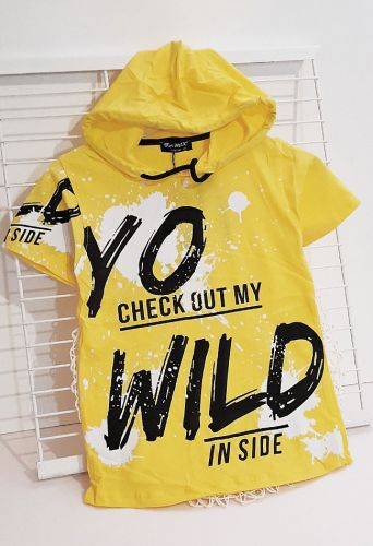 Футболка Yo wild Желтый