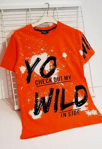 Футболка Yo wild Оранжевый