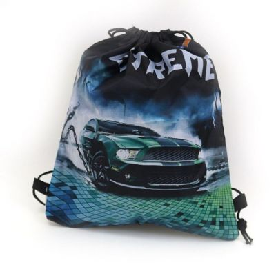 """Мешок рюкзак для обуви """"Extreme"""" 39*34см Синий темный"""