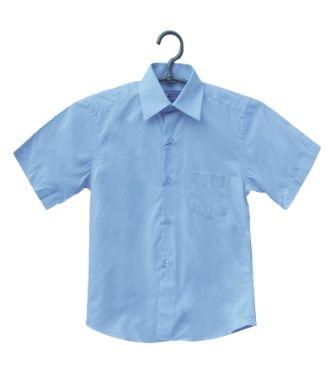 Сорочка короткий рукав классическая Голубой