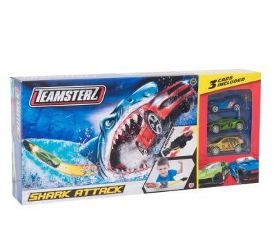 Автотрек Атака акулы с 3 машинками