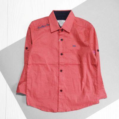 Рубашка мелкий накат Коралловый