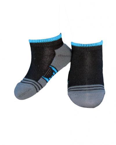 Носки спорт полоса короткие Черный