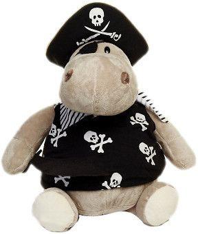 Мягкая игрушка Бегемот Пират 30 см