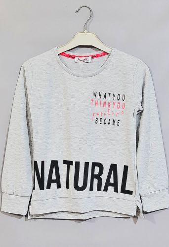 Джемпер Natural Серый меланж