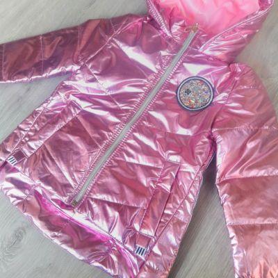 Куртка блеск Розовый