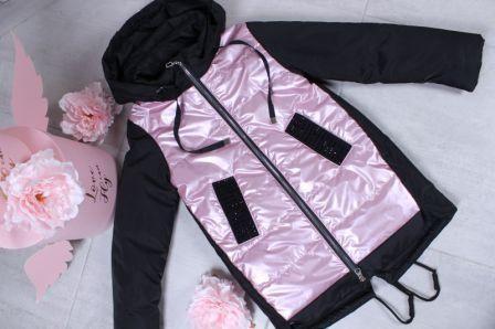 Куртка демисезонная Парка Блеск Черный
