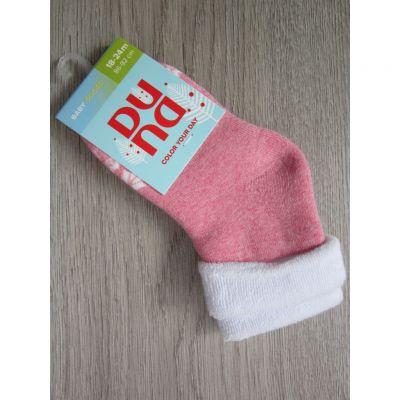 Носки махра орнамент р8 Светло-розовый