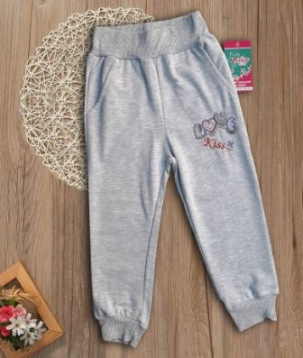 Спортивные брюки Love, паетки Серый меланж
