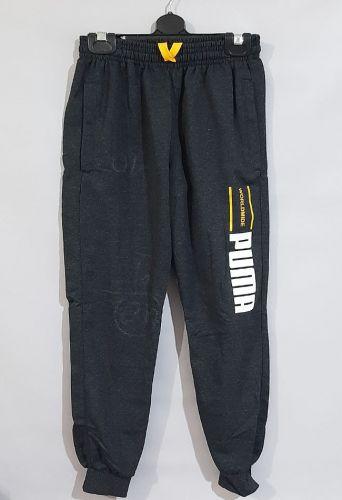 Спортивные брюки молния, манжет Серый темный