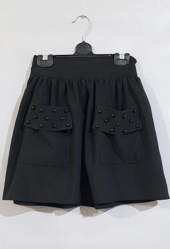 Юбка Два кармана Черный