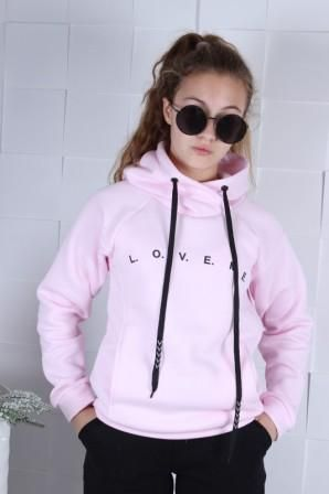 Худи Love me Розовый