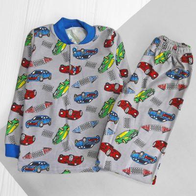 Пижама трикотажная с начесом Ралли Серый