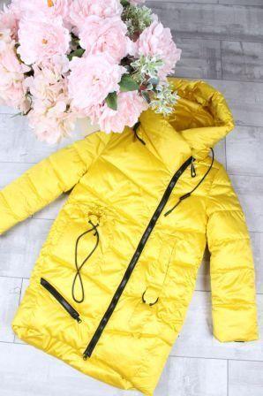 Куртка Высокий ворот Желтый
