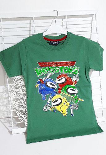 Футболка Among impostors Зеленый