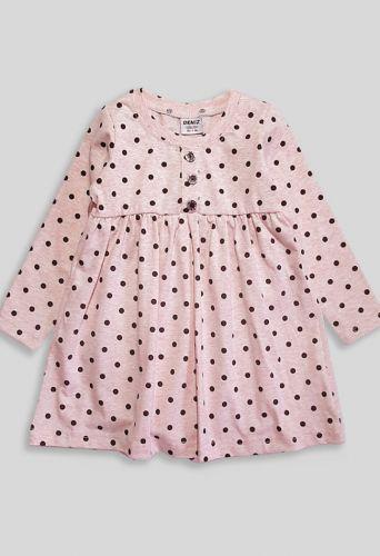 Платье Горошек Розовый