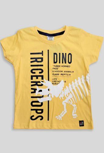 Футболка Динозавр Желтый