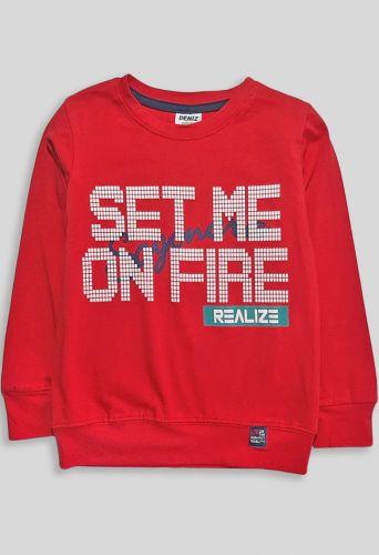Джемпер Set me on fire Красный