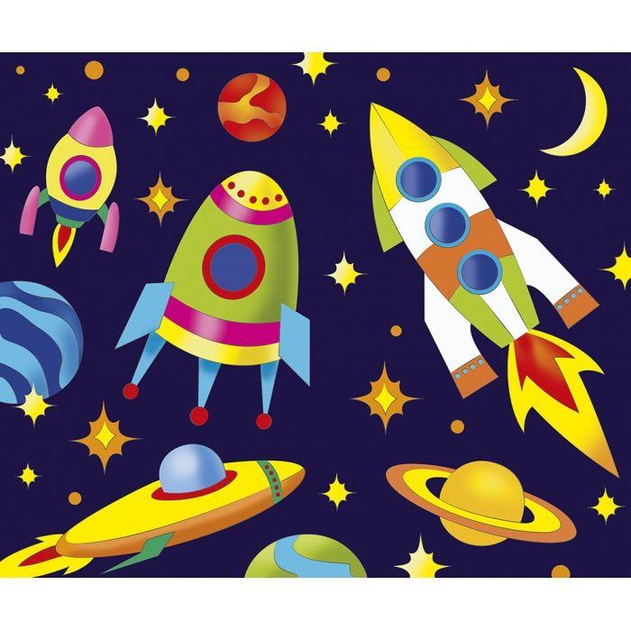 Роспись по холсту Ракеты в космосе