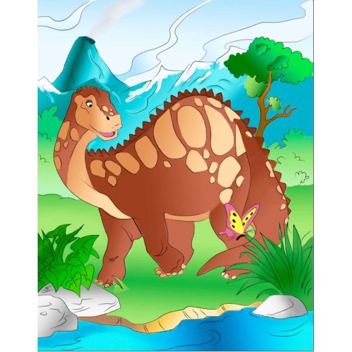 Роспись по холсте Добрый динозавр