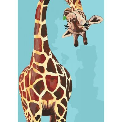 Роспись по номерам Веселый жираф