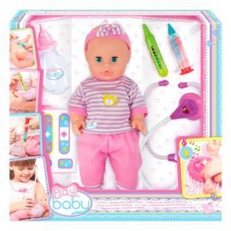 Кукла 32см с интерактивным набором врача