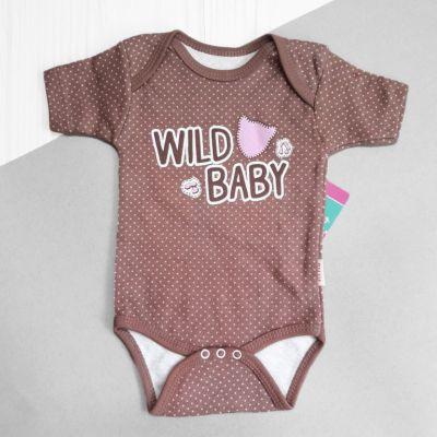 Боди с коротким рукавом Wild baby Коричневый