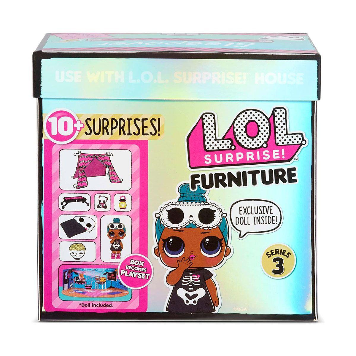Игровой набор с куклой LOL SURPRISE серии Furniture S2  КОМНАТА ЛЕДИ сплюшка