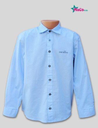 Рубашка мелкий накат Голубой