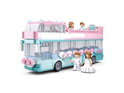Конструктор SLUBAN автобус 379дет