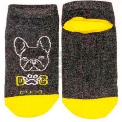 Носки для мальчика короткие  р20 Серый темный