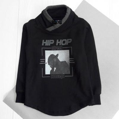 Свитшот Хип Хоп, начес Черный
